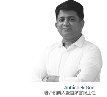 Abhishek Goel Co-founder and Chief Customer Officer